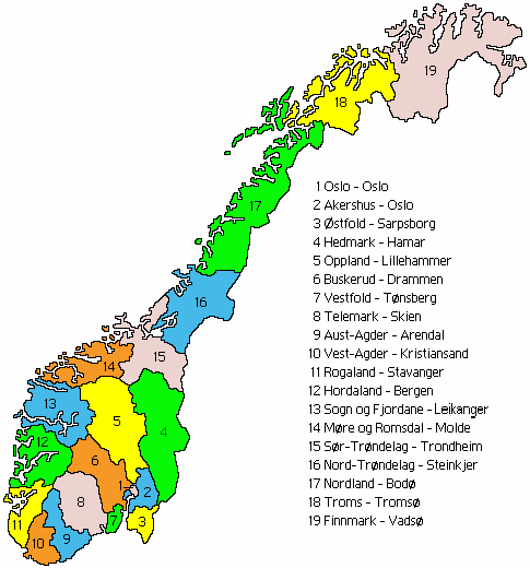 Provincies Noorwegen